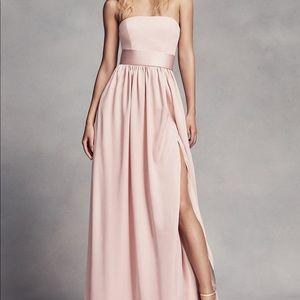 White by Vera Wang bridesmaid dress BLUSH